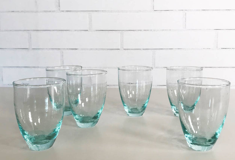 Moroccan Handblown Stemless Wine Glasses - Set/6