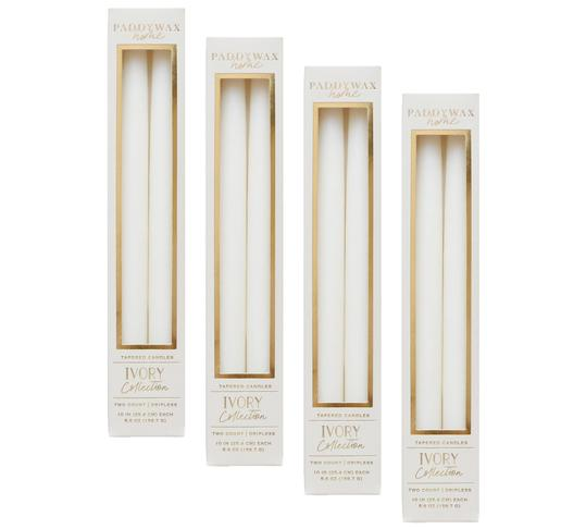 "Taper 10"" Ivory Candle 2/Pack"