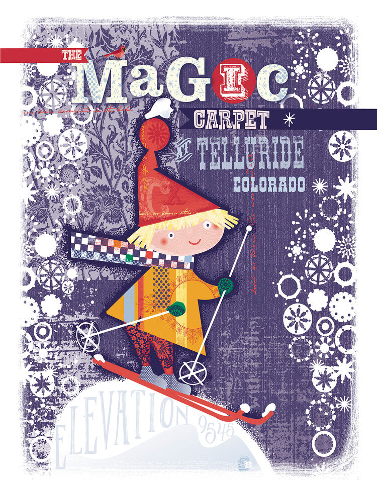 "Magic Carpet - Giclee Print - 11""x14"""