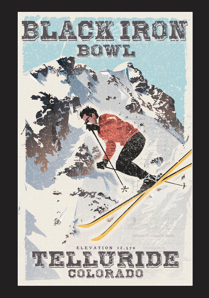 Black Iron Bowl - Giclee Print - 11x14
