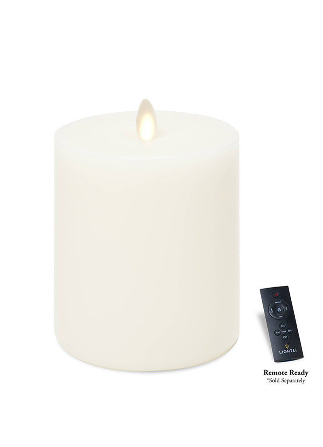 LED Pillar Candle - Vanilla Honey - Wide