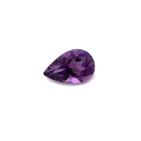 Amethyst - purple, pearshape, 6x4 mm, 0.35-0.4 cts, No. AMY13001