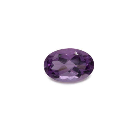Amethyst - purple, oval, 6x4 mm, 0.48 cts, No. AMY80001