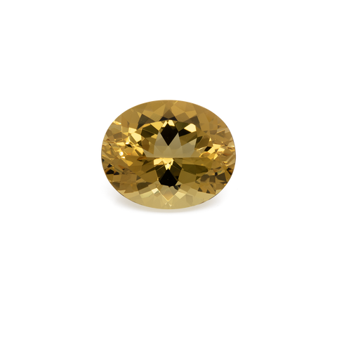 Beryl - yellow, oval, 16.5x13.5 mm, 10.39 cts, No. BY30004