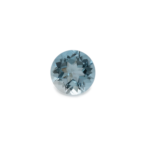 Beryl - blue, round, 5x5 mm, 0.45-0.47 cts, No. BY80001