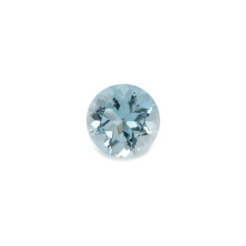 Beryl - blue, round, 6x6 mm, 0.72 cts, No. BY90001