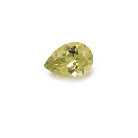 Chrysoberyl - yellow, pearshape, 10x7 mm, 2.06 cts, No. CHB10001
