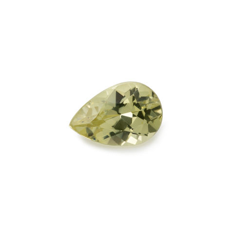 Chrysoberyl - yellow, pearshape, 9x7 mm, 1.58 cts, No. CHB20001