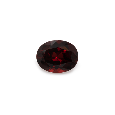 Garnet - red, oval, 9x7 mm, 2,1-2,3 cts, No. GR14001