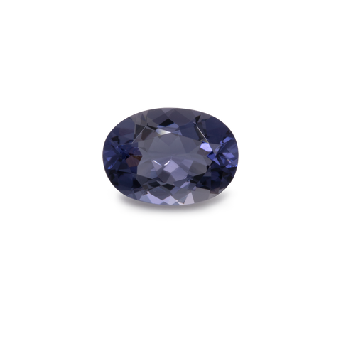 Iolite - purple/blue/spotted, oval, 7x5 mm, 0.60-0.70 cts, No. IOL80001