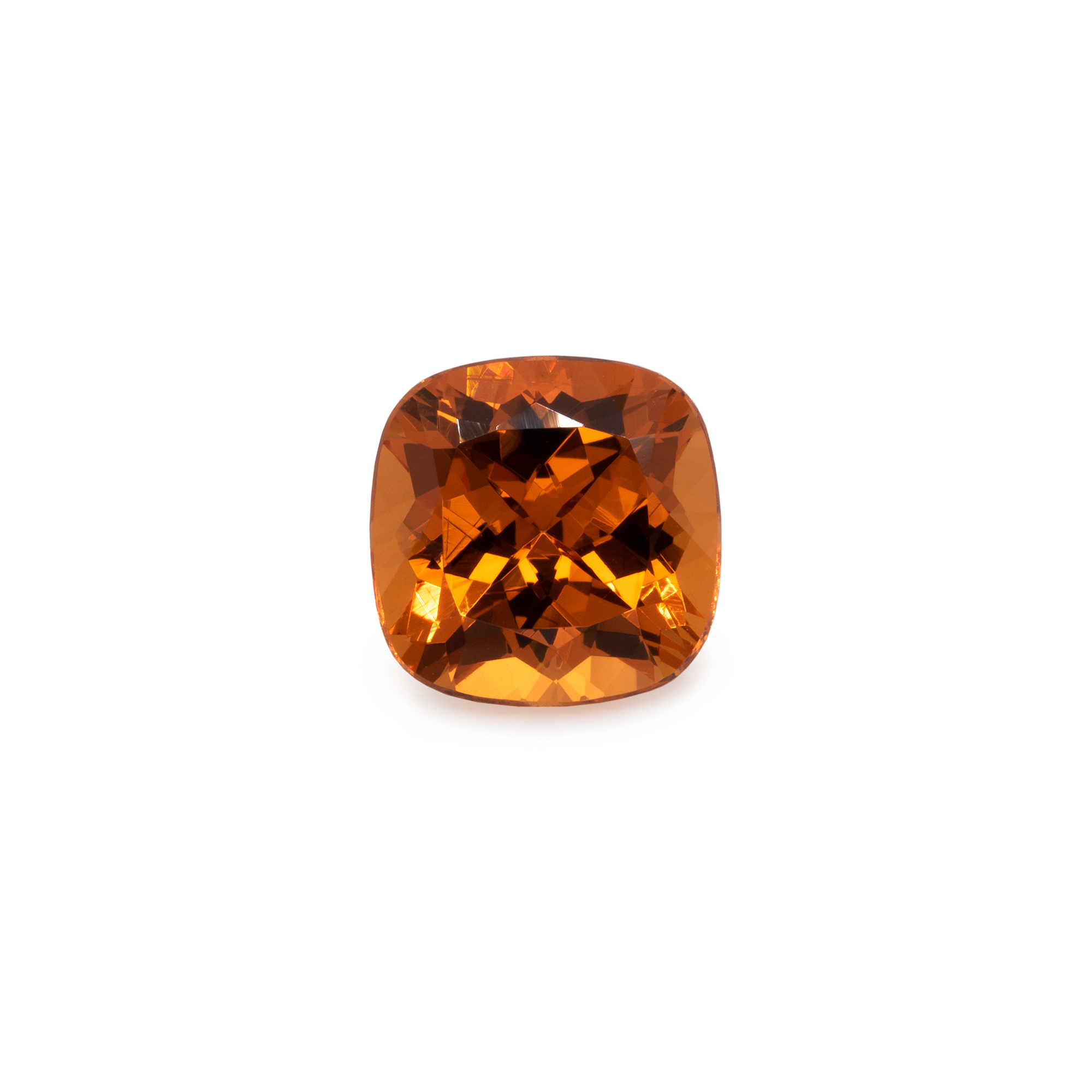 Mandarin Granat - orange, antik, 9x9 mm, 4,36 cts, Nr. MG12002
