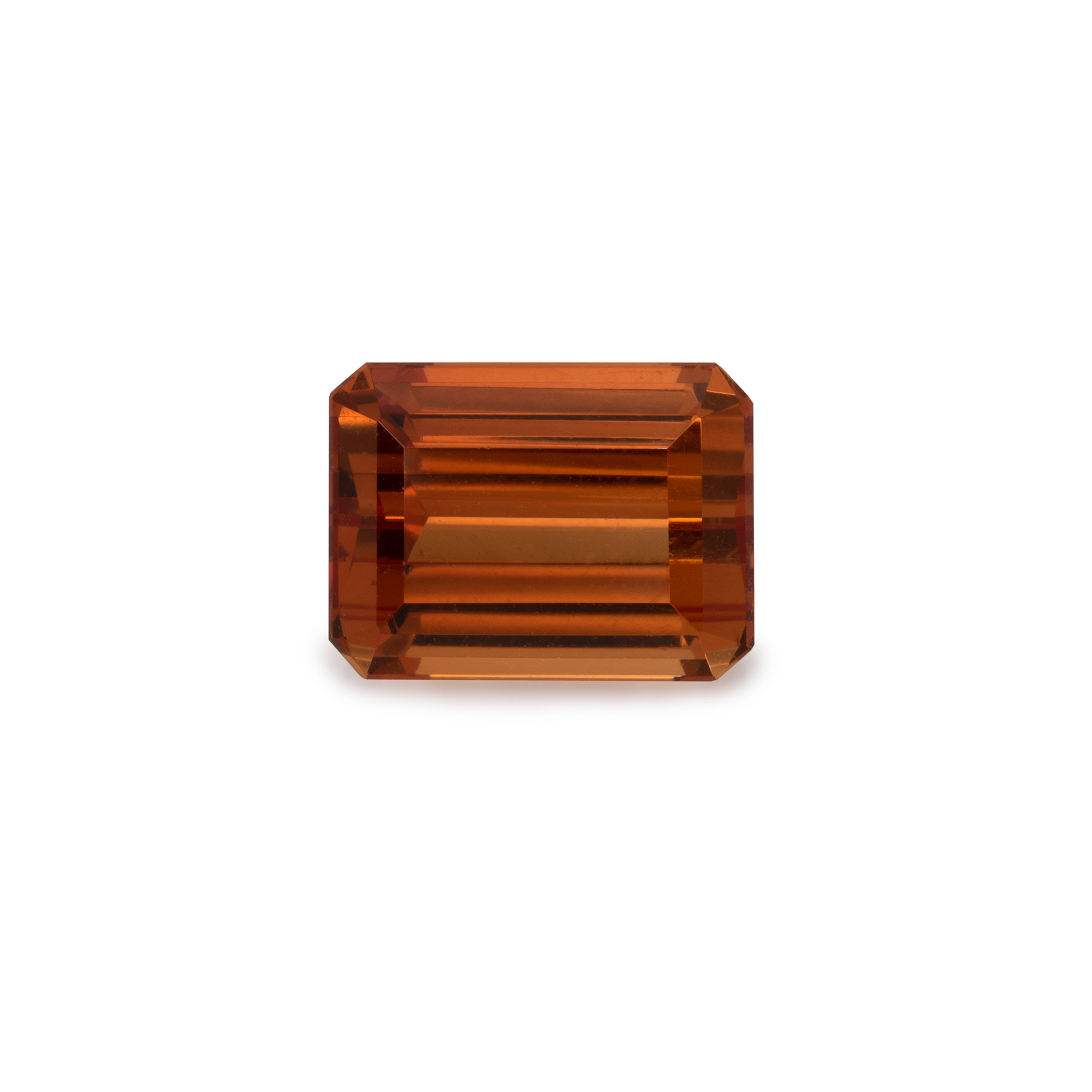 Mandarin Granat - orange, achteck, 8x6 mm, 2,3-2,55 cts, Nr. MG15002