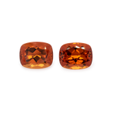 Mandarin Granat Paar - orange, antik, 10x8 mm, 8,84 cts, Nr. MG16002