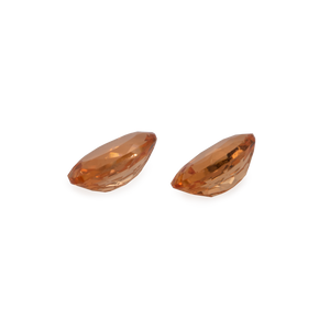 Mandarin Granat Paar - hell orange, oval, 5x3 mm, 0,54-0,66 cts, Nr. MG19003