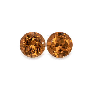 Mandarin Granat Paar - hell orange, rund, 4x4 mm, 0,63-0,72 cts, Nr. MG21003