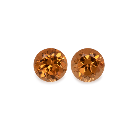 Mandarin Garnet (Pair) - light orange, round, 5x5 mm, 1,20-1,28 cts, No. MG23003