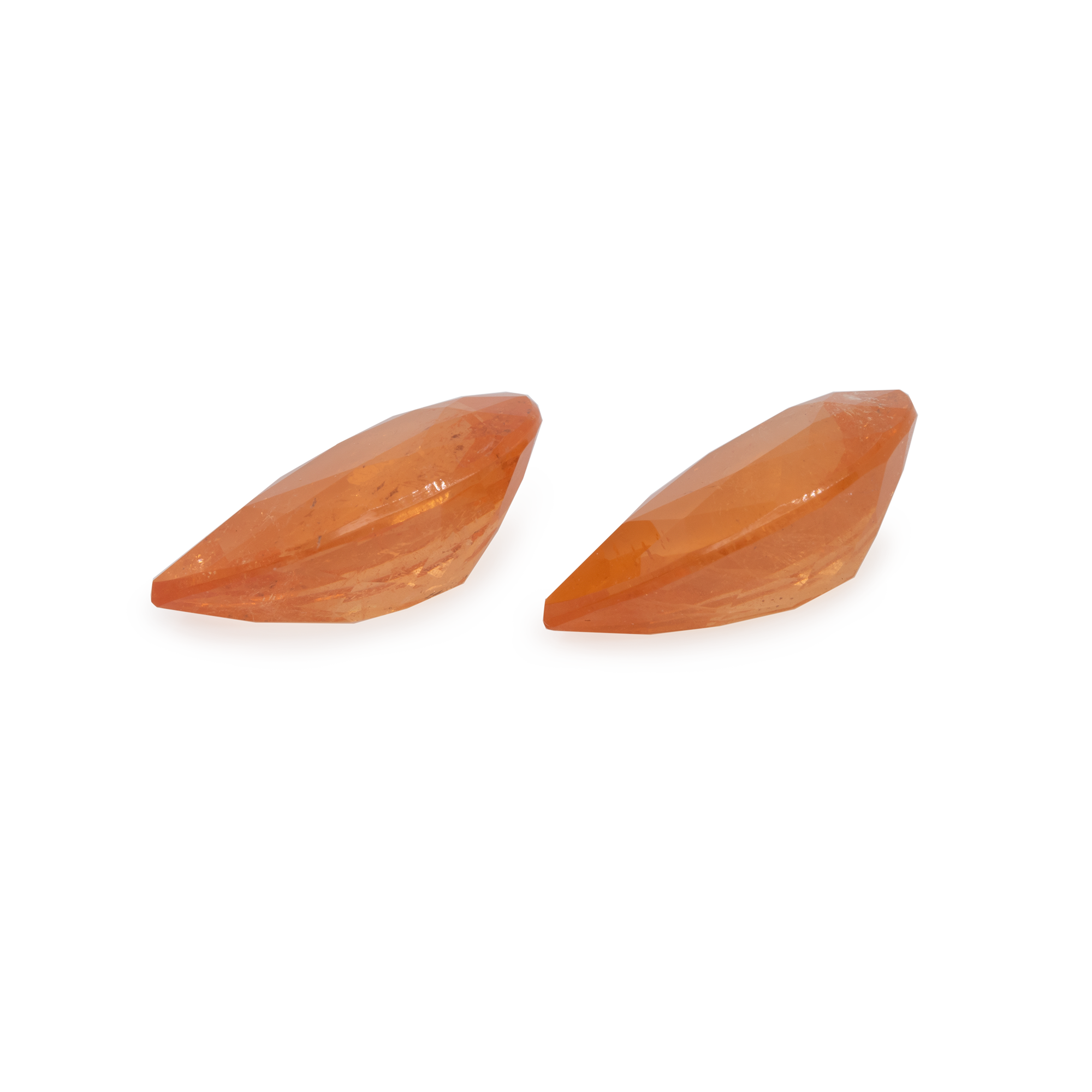 Mandarin Granat Paar - hell orange, birnform, 12x8 mm, 6,94 cts, Nr. MG27003