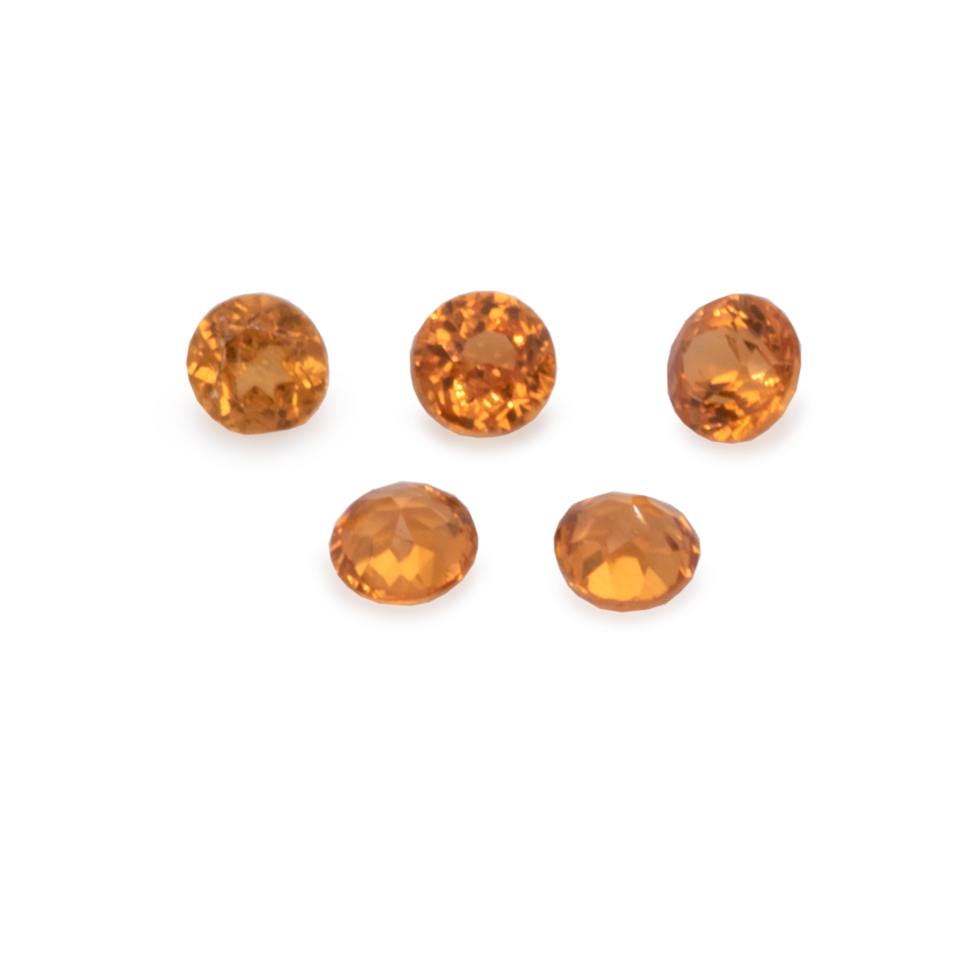 Mandarin Garnet - hell orange, rund, 1,5x1,5 mm, 0,02-0,03 cts, Nr. MG28002