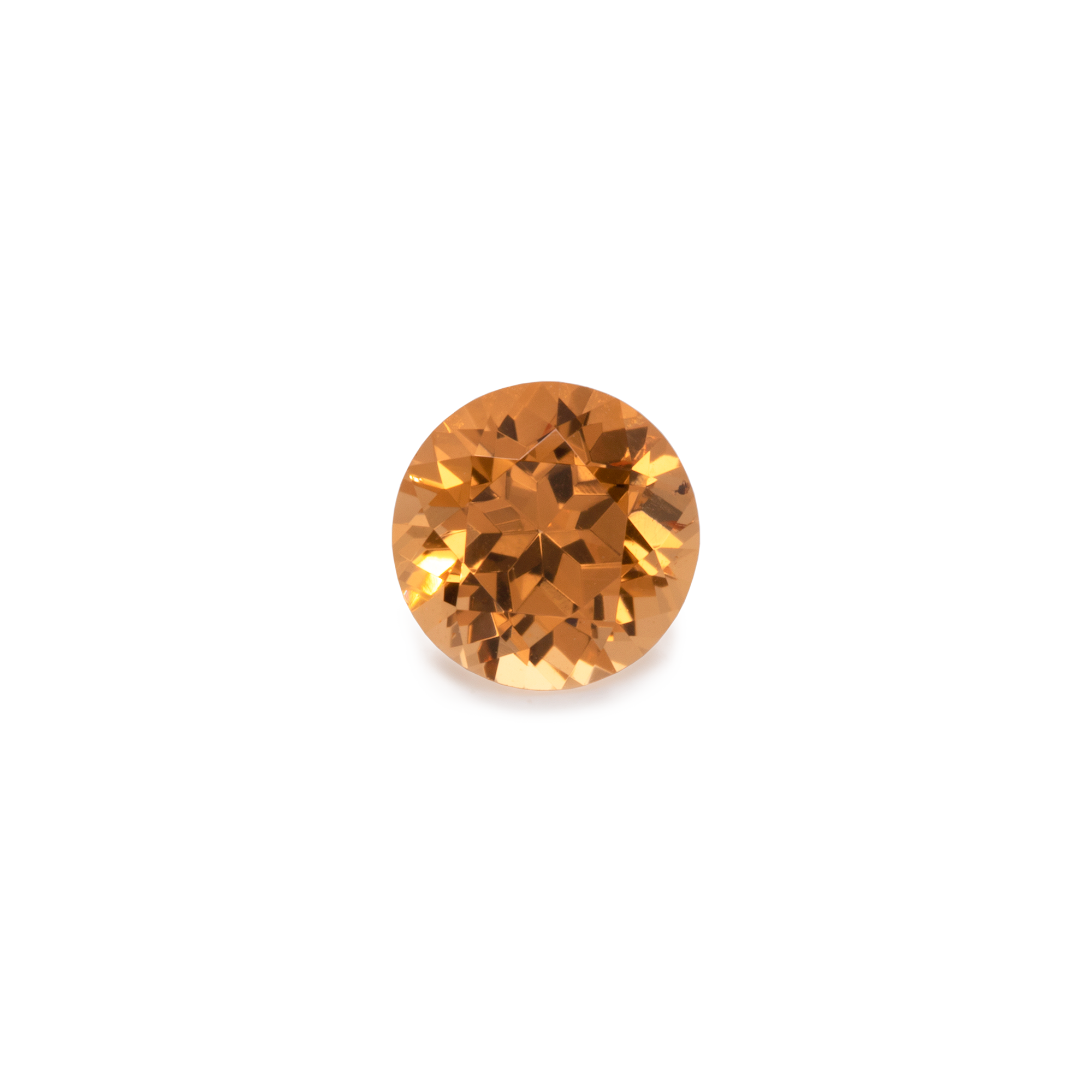 Mandarin Granat - orange, rund, 4x4 mm, 0,3-0,37 cts, Nr. MG70001