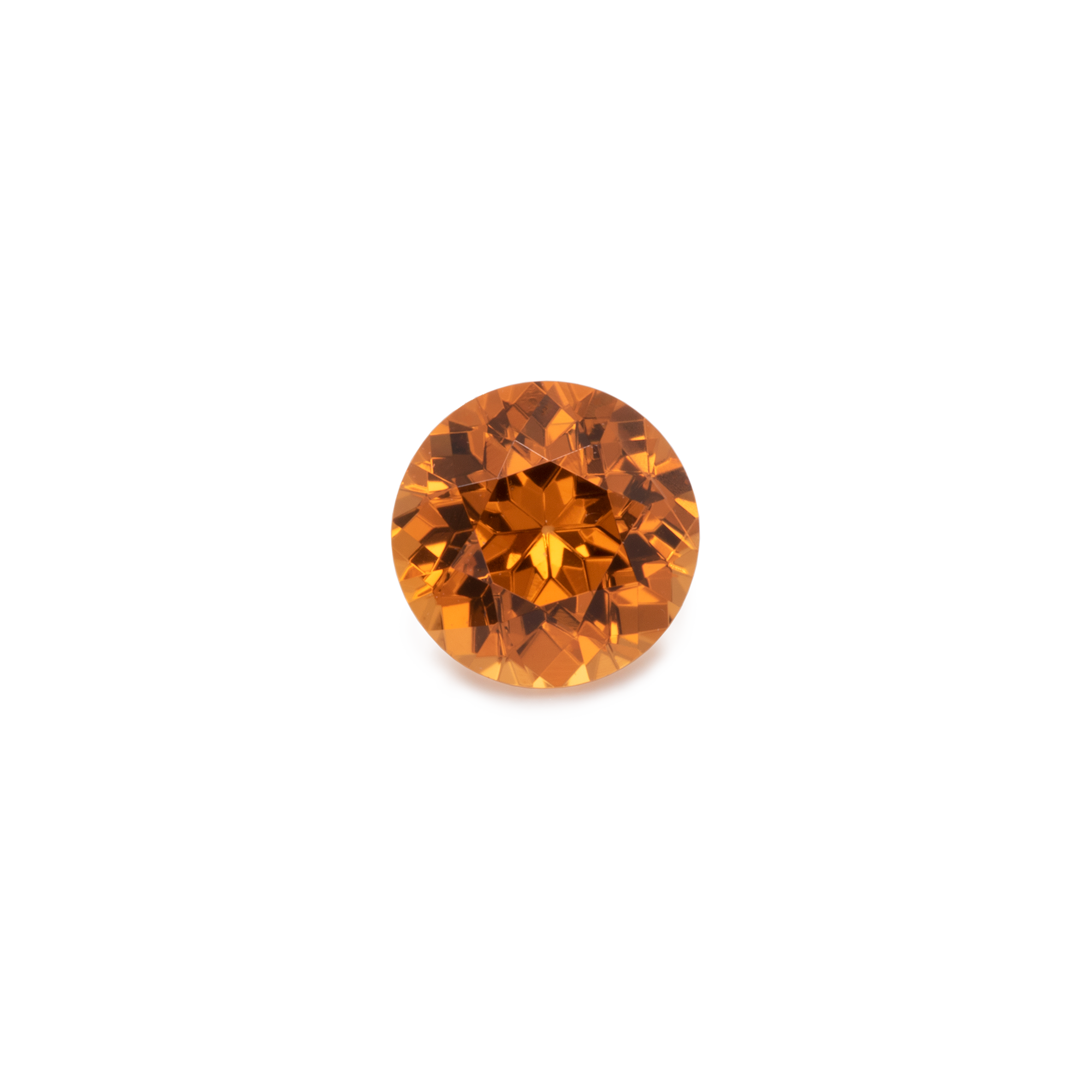 Mandarin Garnet - orange, round, 4x4 mm, 0.3-0.37 cts, No. MG70002
