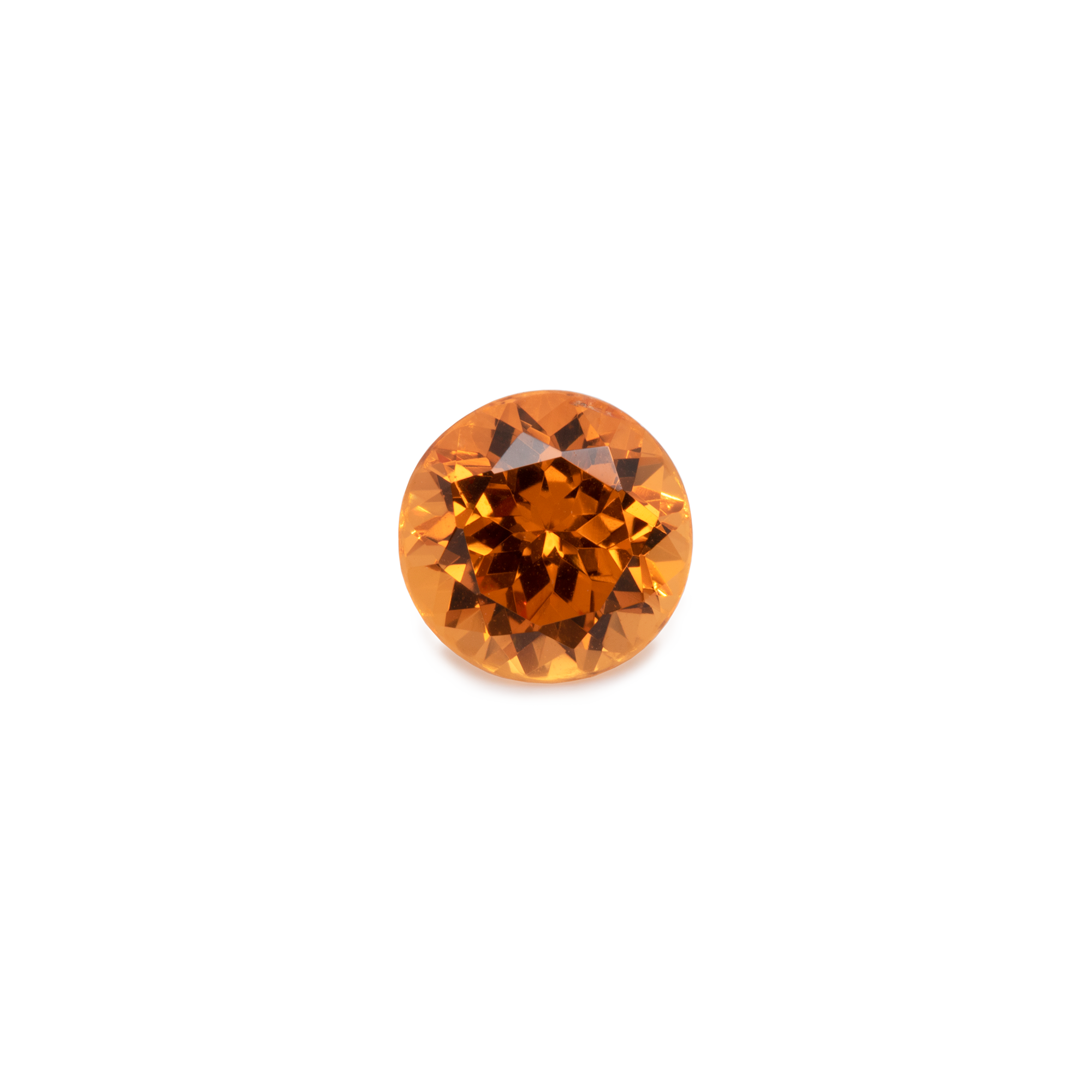 Mandarin Granat - orange, rund, 6x6 mm, 1-1,15 cts, Nr. MG90001