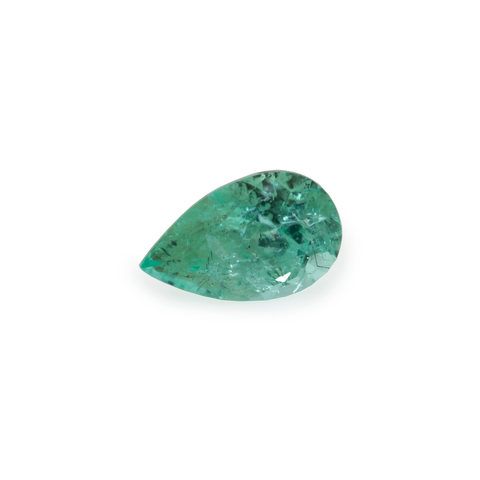 Paraiba Tourmaline - green, pearshape, 5x3 mm, 0.21 cts, No. PT24001