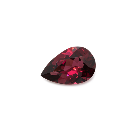 Rhodolite - red, pearshape, 9x6 mm, 1.31 cts, No. RD12001