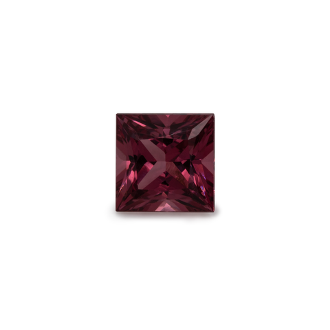 Rhodolite - red/purple, square, 4x4 mm, 0.4 cts, No. RD17001