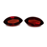 Rhodolith Paar - rot, navette, 12x6 mm, 4,25-4,40 cts, Nr. RD24001