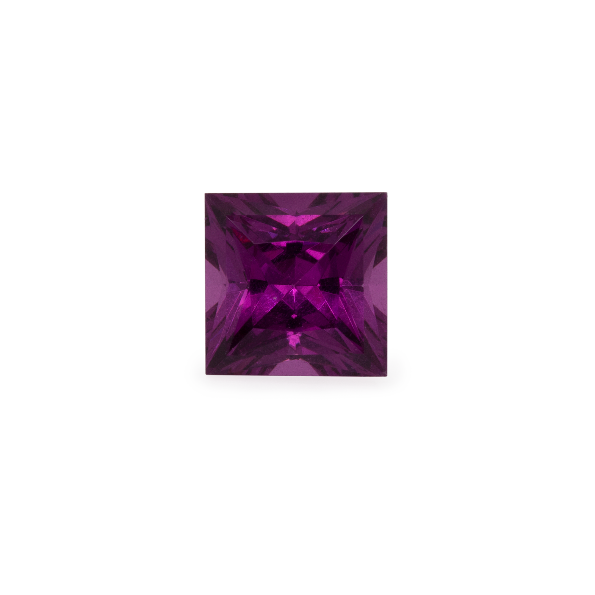 Royal Purple Garnet - lila, rechteck, 5x5 mm, 0,77-0,83 cts, Nr. RP33001