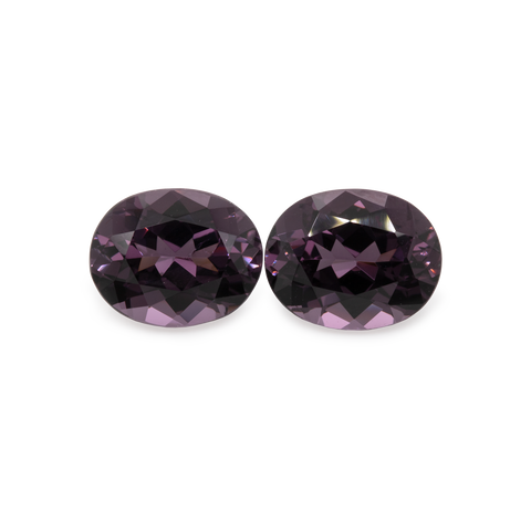 Spinel Pair - purple/grey, oval, 10x8 mm, 6.28 cts, No. SP30001