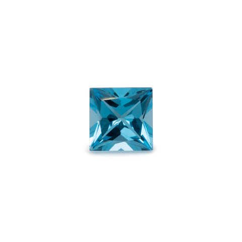 Topaz - blue, square, 7x7 mm, 2.1 cts, No. TPZ30001