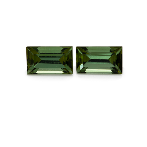 Tourmaline Pair - green, square, 5x3 mm, 0.57 cts, No. TR10184