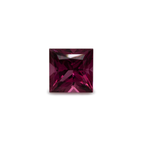 Rhodolite - red/purple, square, 6x6 mm, 1.3 cts, No. RD15001