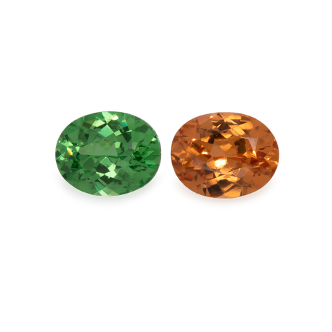 Mandarin Garnet (Pair) - light orange, oval, 5x3 mm, 0,54-0,66 cts, No. MG19003