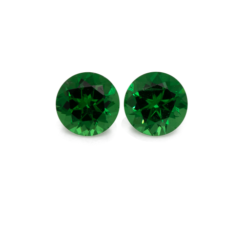 Tsavorite Pair - green, round, 3x3 mm, 0.23 cts, No. TS51001