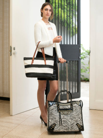 On Board Luggage & Stripe Tote