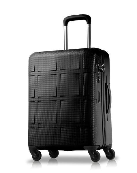 Echolac-Tokyo Medium Hard Side Luggage-BLACK-Luggage - Gabee Bags | Gabee.com.au - 1
