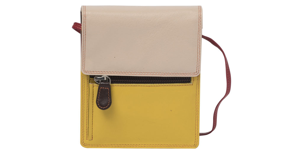 Willow Passport Leather Bag - Taupe