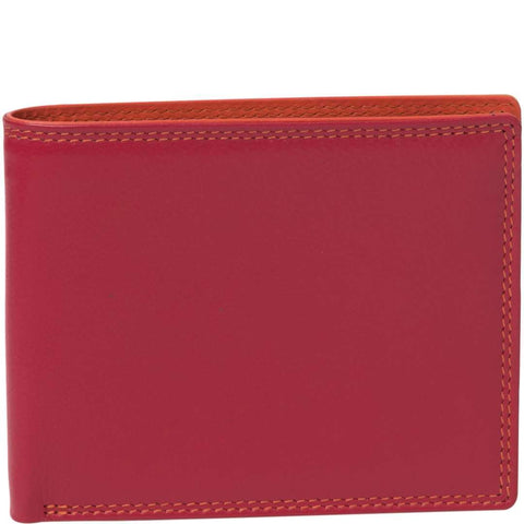 Cate Classic Bifold Leather Wallet - Red