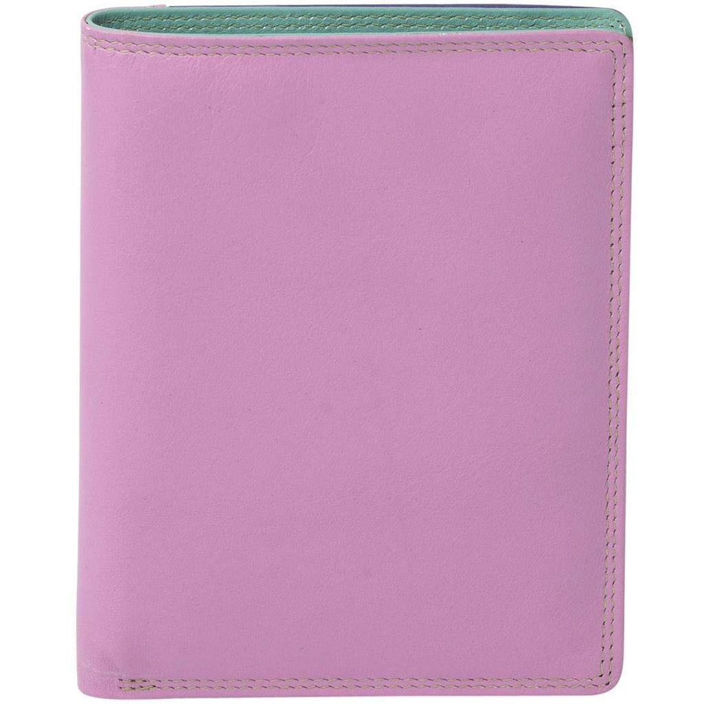 Daisy Leather Slimline Wallet - Purple