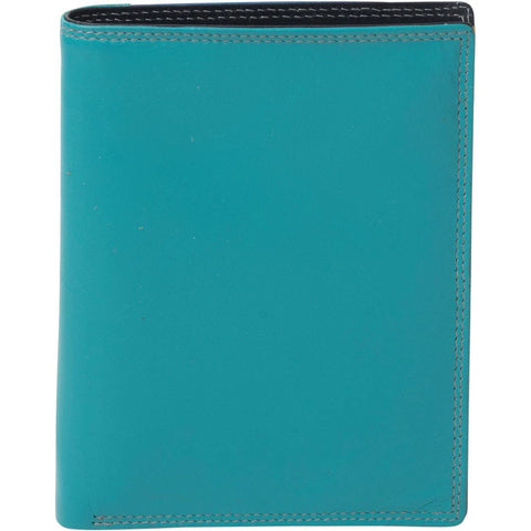 Daisy Leather Slimline Wallet - Teal