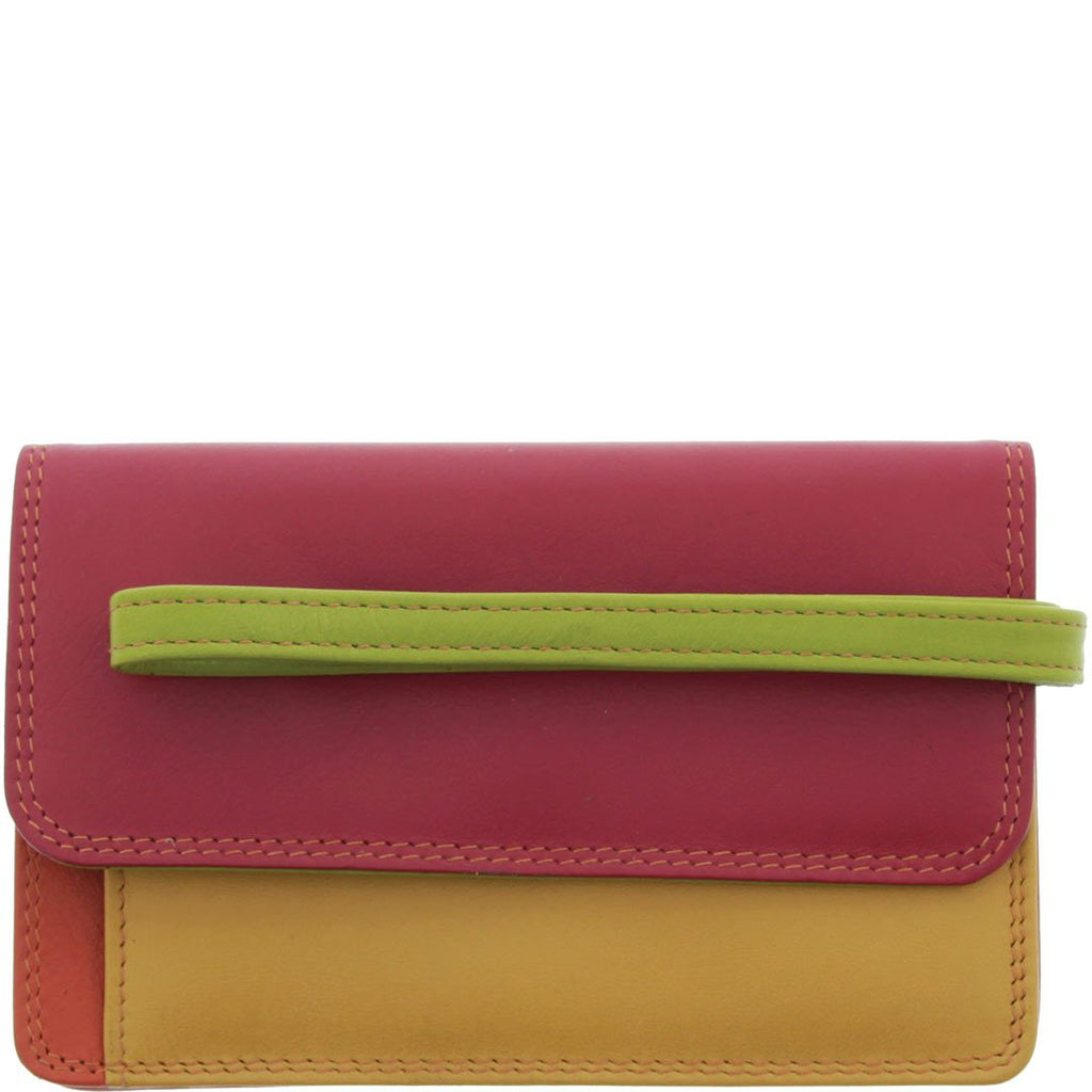 Hadley Mini Wristlet Leather Purse - Red