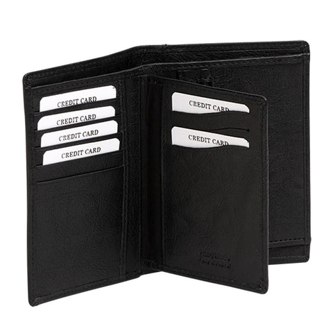 Washed Leather Slim Wallet