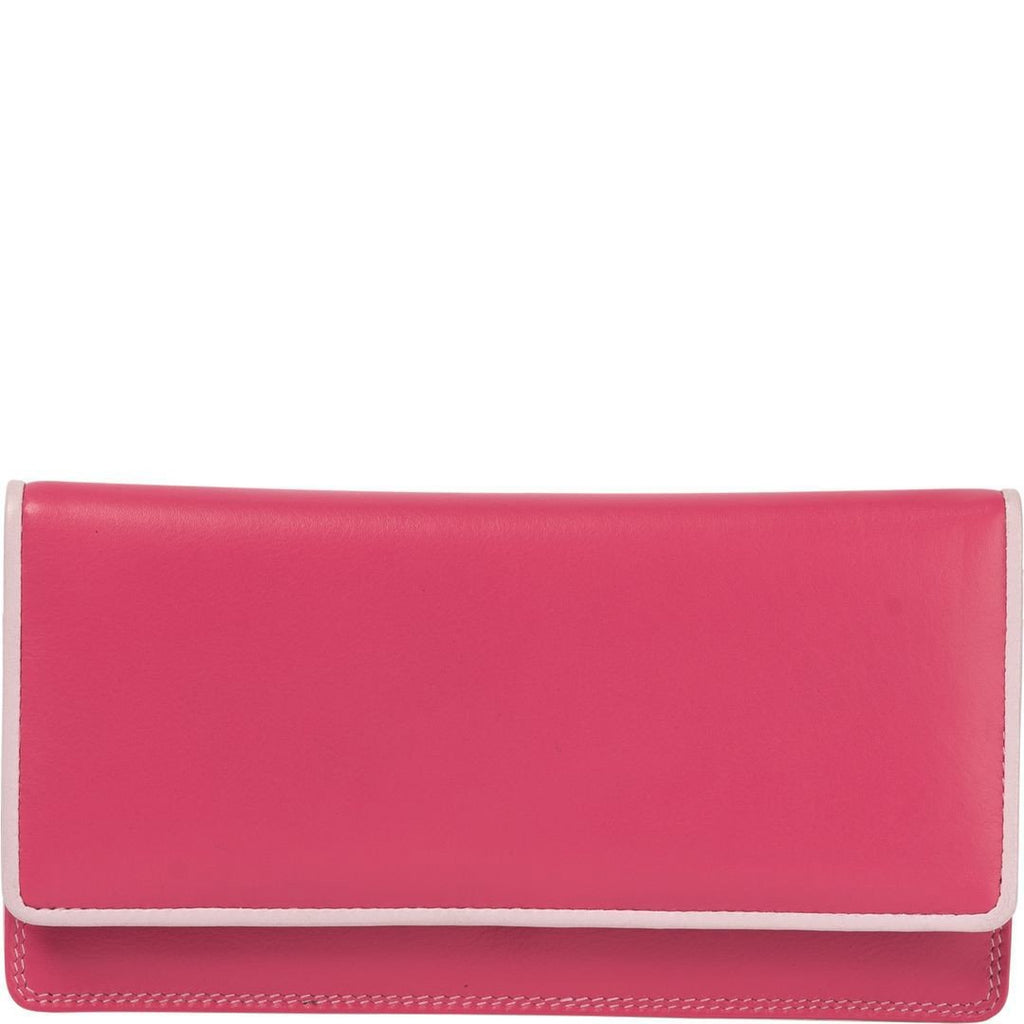 Gabee-Caroline Leather Trim Wallet-BERRY-Womens Wallet - Gabee Bags | Gabee.com.au - 1