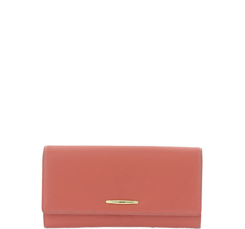 Gabee-Dani Leather Wallet-SALMON-Womens Wallet - Gabee Bags | Gabee.com.au - 1