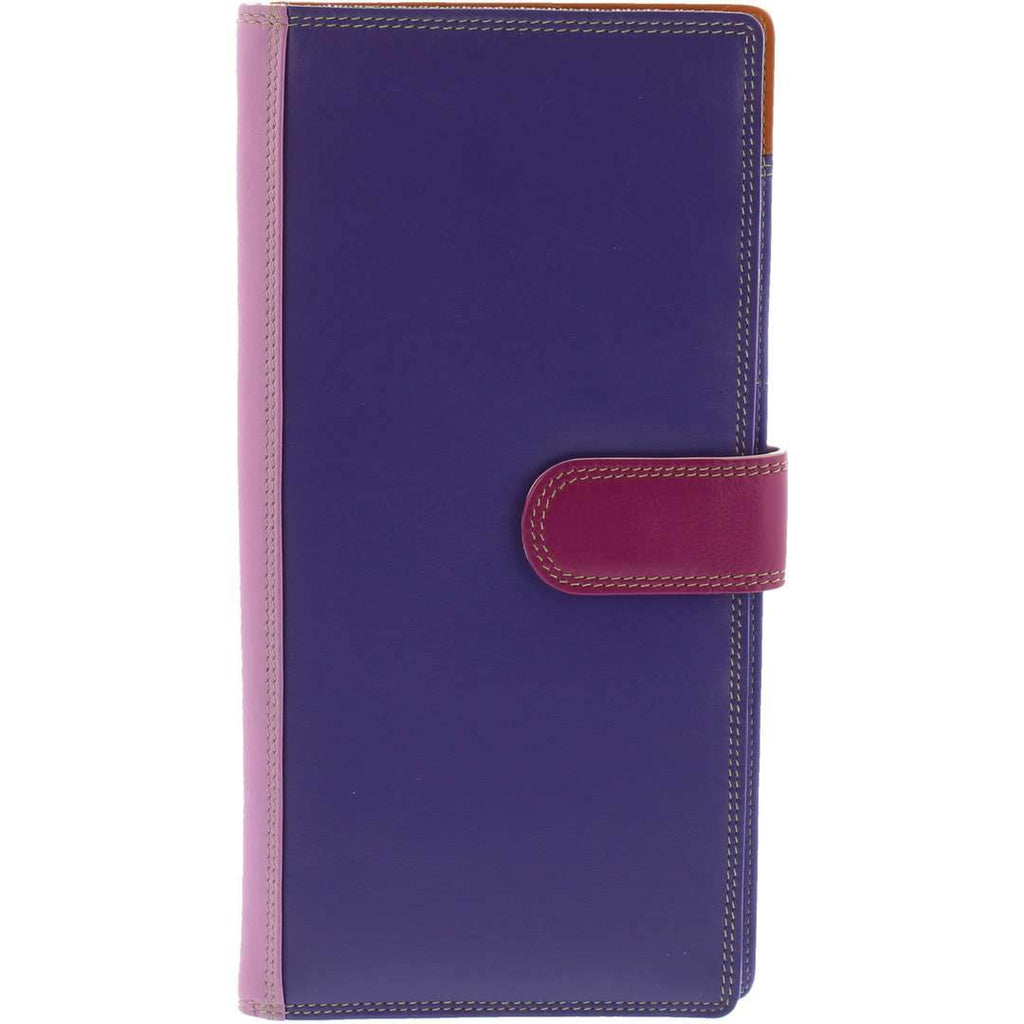 Reice RFID Travel Document Leather Wallet - Purple