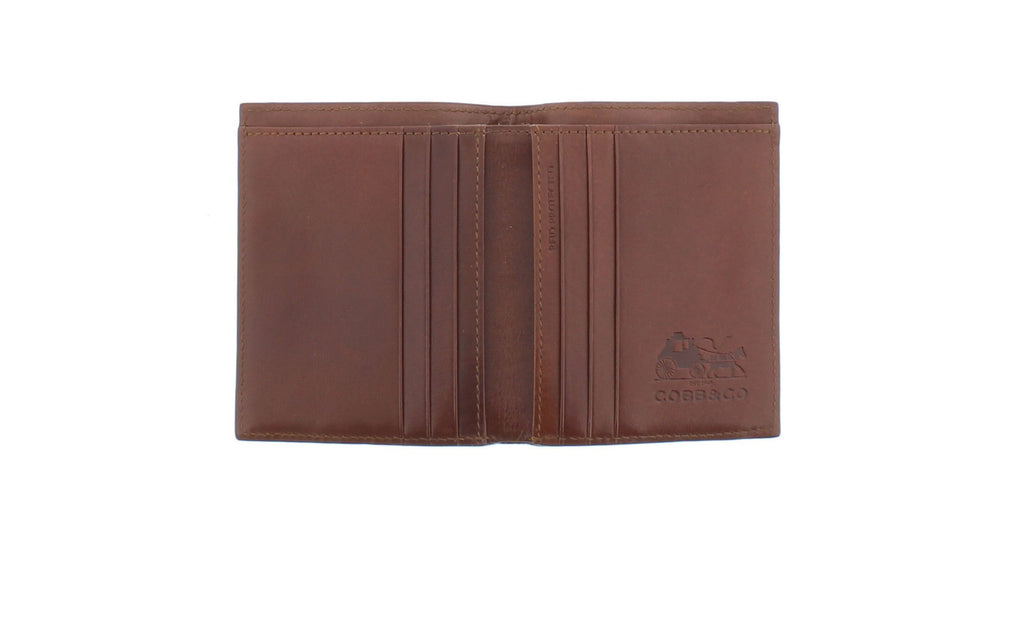 Leo Monogram RFID Bifold Leather Wallet