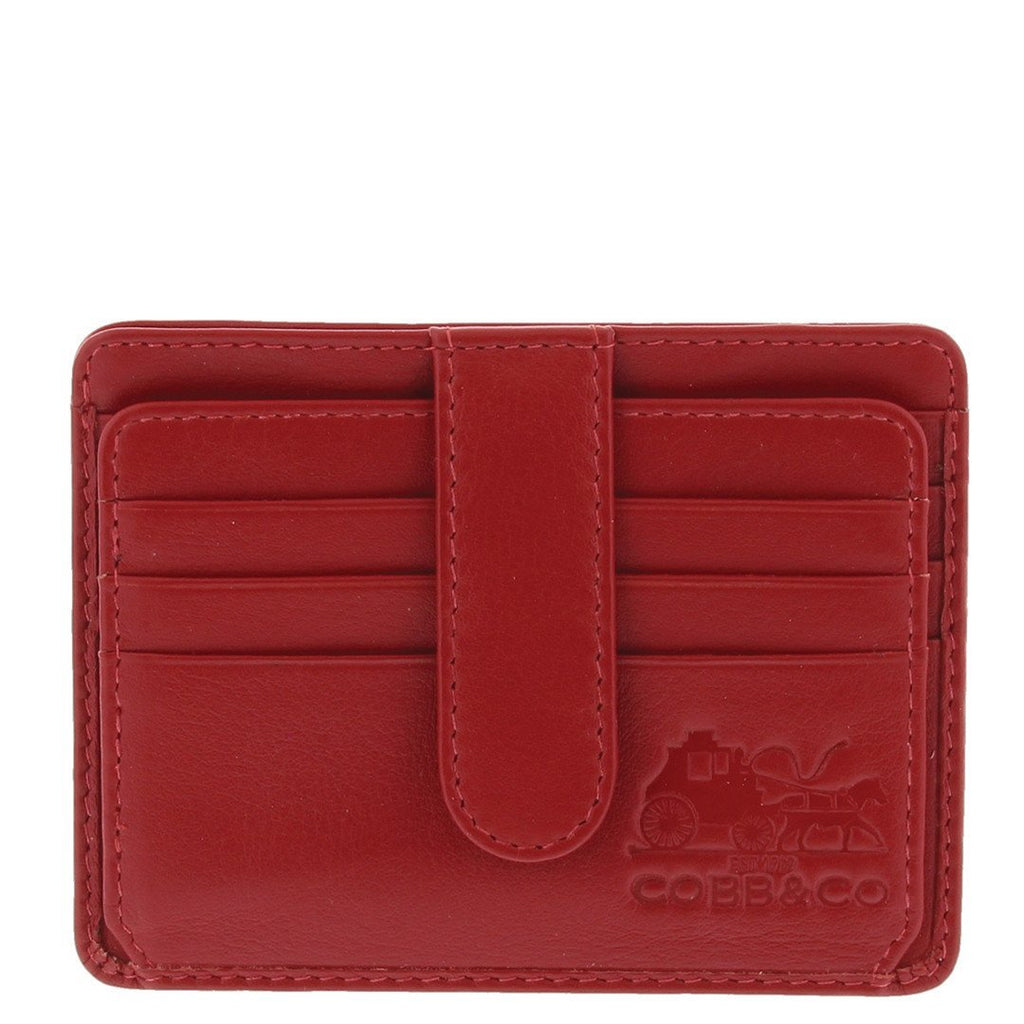 Cobb & Co-Stevie Rfid Card Leather Holder-RED-Leather Accessories |Gabee.com.au leather, Bags & Accessories since 1949 - 4