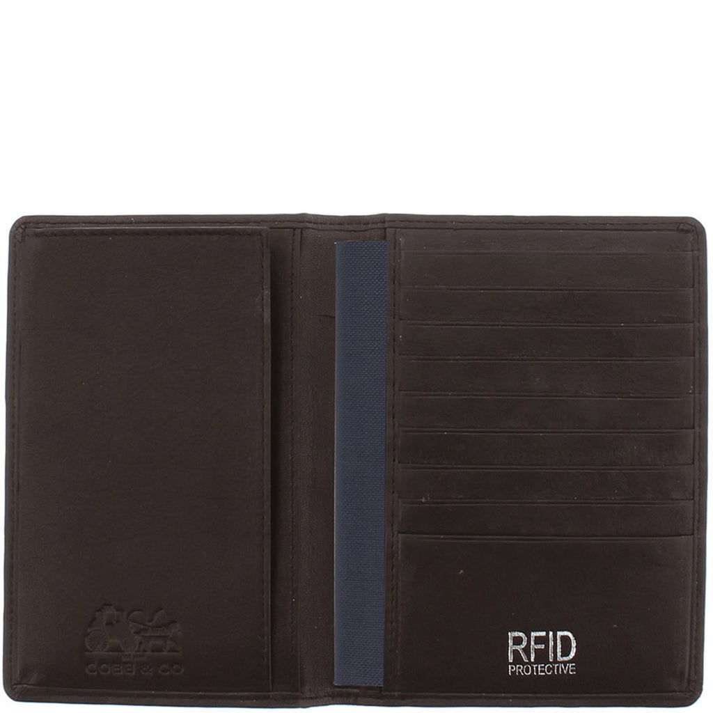 Charlie RFID Leather Passport Holder